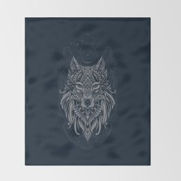 Wolf of North Throw Blanket