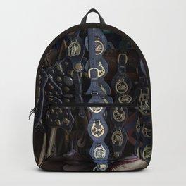 Antique Saddle Buckles Backpack