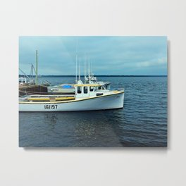 Boats in a Row, not to be confused with row boats Metal Print