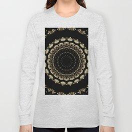 Mandala Design Black Long Sleeve T-shirt