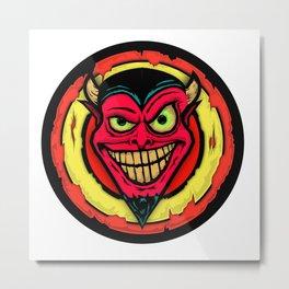 Drawlloween 2015 - Day 2 - Devil Metal Print