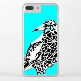 Minty Magpie Clear iPhone Case