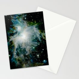 Orion Nebula Teal Deep Green Stationery Cards