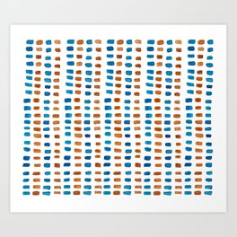 Blue & Orange Vibes Art Print