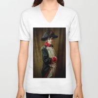 napoleon V-neck T-shirts featuring Napoleon B by SOCKIVISION Store