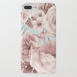 SEPIA ROSES ON GREEN iPhone Case