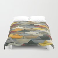 boats Duvet Covers featuring Boats by GLOILLUSTRATION