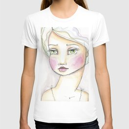 Dreamy Eyed Girl in Sherbert T-shirt