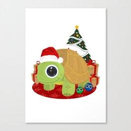 Christmas - Turtle Canvas Print
