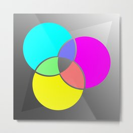 CMY Color Palette Crossover Metal Print