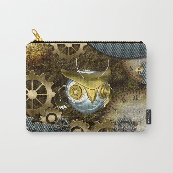 Steampunk, awesome owl Carry-All Pouch