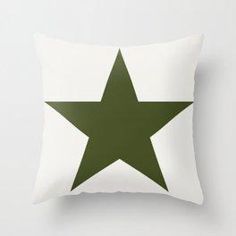 Vintage U.S. Military Star Throw Pillow