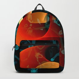 Love Me Abstract Art with Heart Backpack