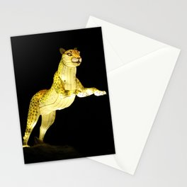 Christmas At The Living Desert Zoo - Cheetah Pounce Stationery Cards
