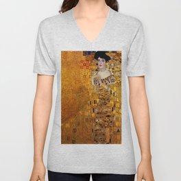 Gustav Klimt portrait painting of Bloch-Bauer Unisex V-Neck