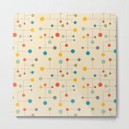 Mid-Century Dots Pattern Metal Print