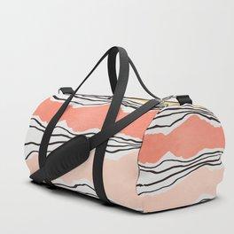 Modern irregular Stripes 01 Duffle Bag