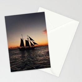 Sunset Sailboat Stationery Cards