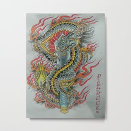 KuriKara Dragon Sword Metal Print