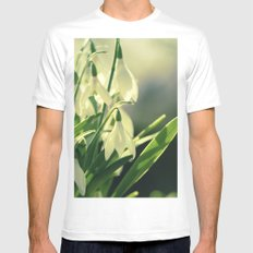 Snowdrops impression from the garden Mens Fitted Tee White MEDIUM