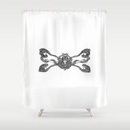 Girls Crossed Hair Shower Curtain
