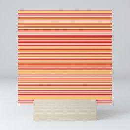 Old Skool Stripes - Red Pumpkin - Horizontal Mini Art Print