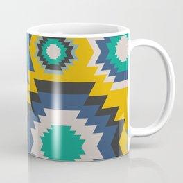 Ethnic in blue, green and yellow Coffee Mug