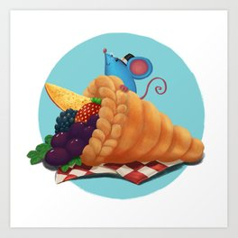 Mr. Bluemouse Thanksgiving 03 Art Print