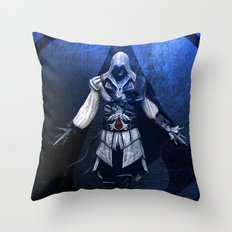 Assassin's Creed Ezio Poster Throw Pillow