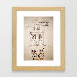 egg on top Framed Art Print