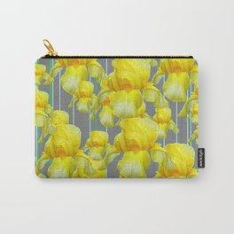 OODLES OF YELLOW IRIS GREY GARDEN ART Carry-All Pouch