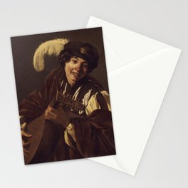 """Hendrick Terbrugghen """"A Boy Playing the Lute"""" Stationery Cards"""