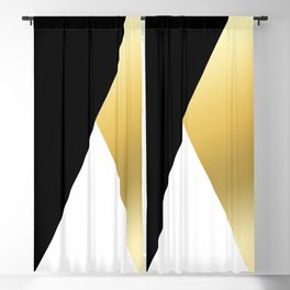 Elegant gold and black geometric design Blackout Curtain