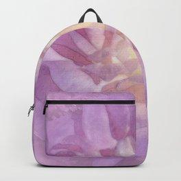 Big Lavender Pink Rose Glow Backpack