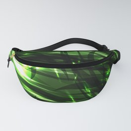 Green and smooth sparkling lines of grass on the theme of space and abstraction. Fanny Pack