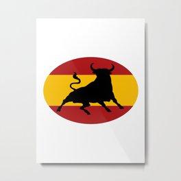 Spanish Bull Metal Print