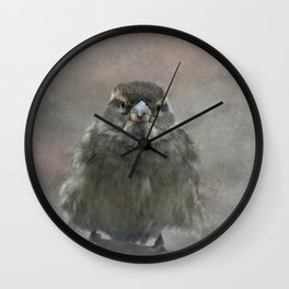 On A Cold Winters Day Wall Clock