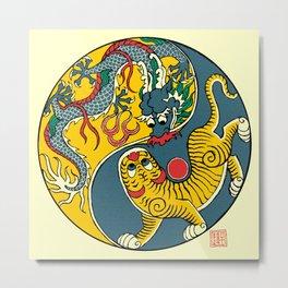 A Flag of Dragon and Tiger Metal Print