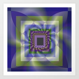 Blue Green Swirl Art Print