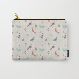 Pretty Birds and Flowers Carry-All Pouch