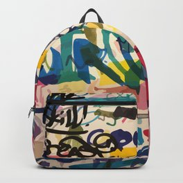 Urban Graffiti Paper Street Art Backpack