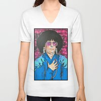 snl V-neck T-shirts featuring SNL Mike Meyers as Linda Richman by Portraits on the Periphery