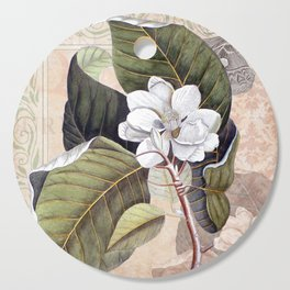 Vintage White Magnolia Cutting Board