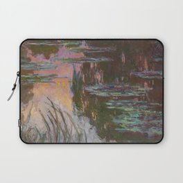 Water Lilies - Setting Sun by Claude Monet Laptop Sleeve