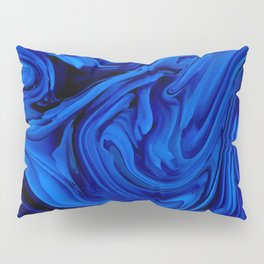 Blue Liquid Marbled texture Pillow Sham
