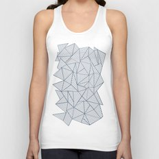 Ab Lines Navy and White Unisex Tank Top