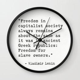 Vladimir Lenin quote Wall Clock