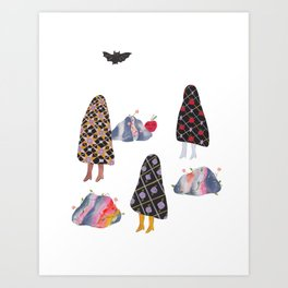 The Quilted Ghosts Art Print
