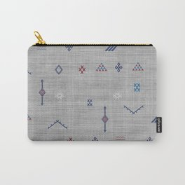 Cactus Silk Pattern in Grey Carry-All Pouch