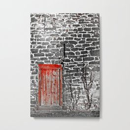 Enter The Red Door Metal Print